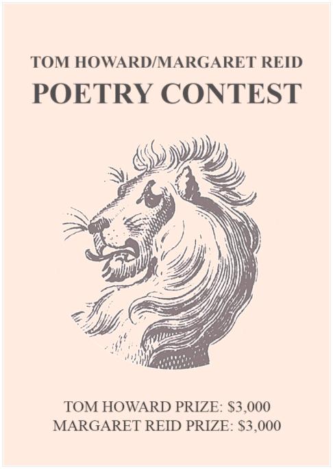 19th annual Tom Howard/Margaret Reid Poetry Contest
