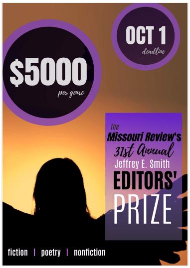 31st Annual Jeffrey E. Smith Editors' Prize