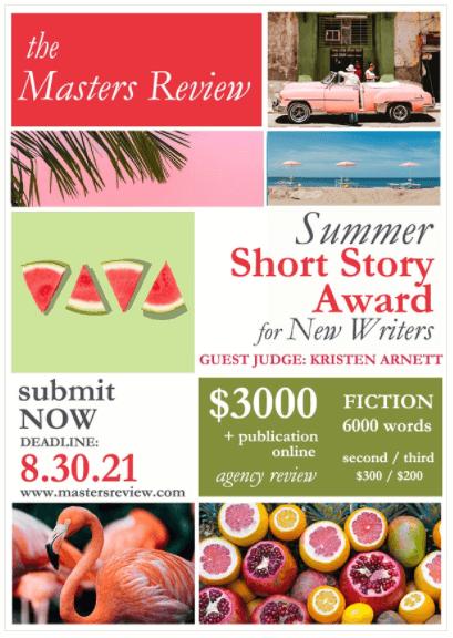 Summer Short Story Award for New Writers 2021